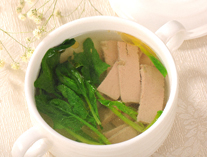 Linseed oil spinach soup